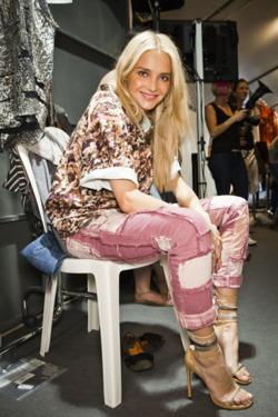 Isabel Marant backstage at Paris Fashion Week Spring Summer 2012 collections