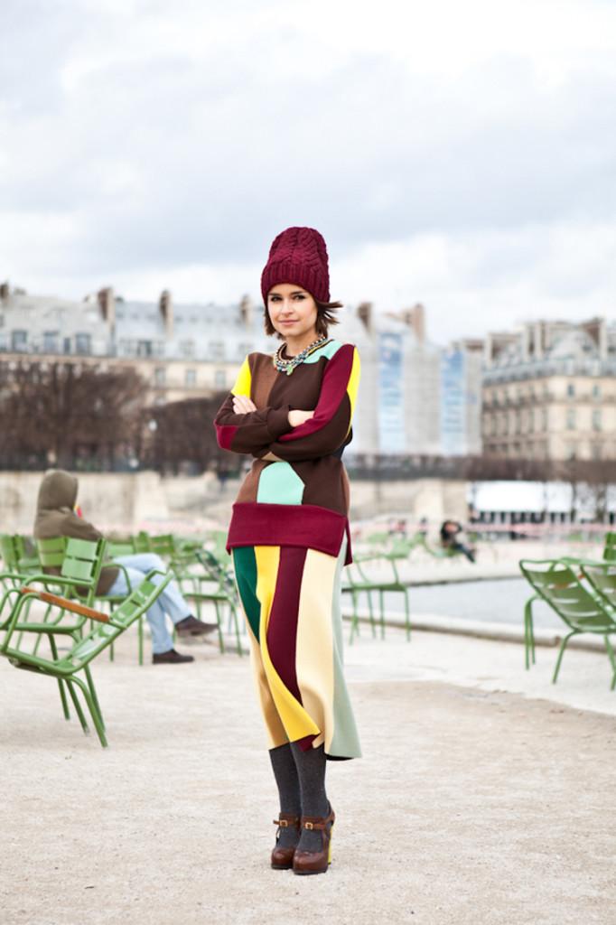 Paris Fashion Week 2012, outside Chloé