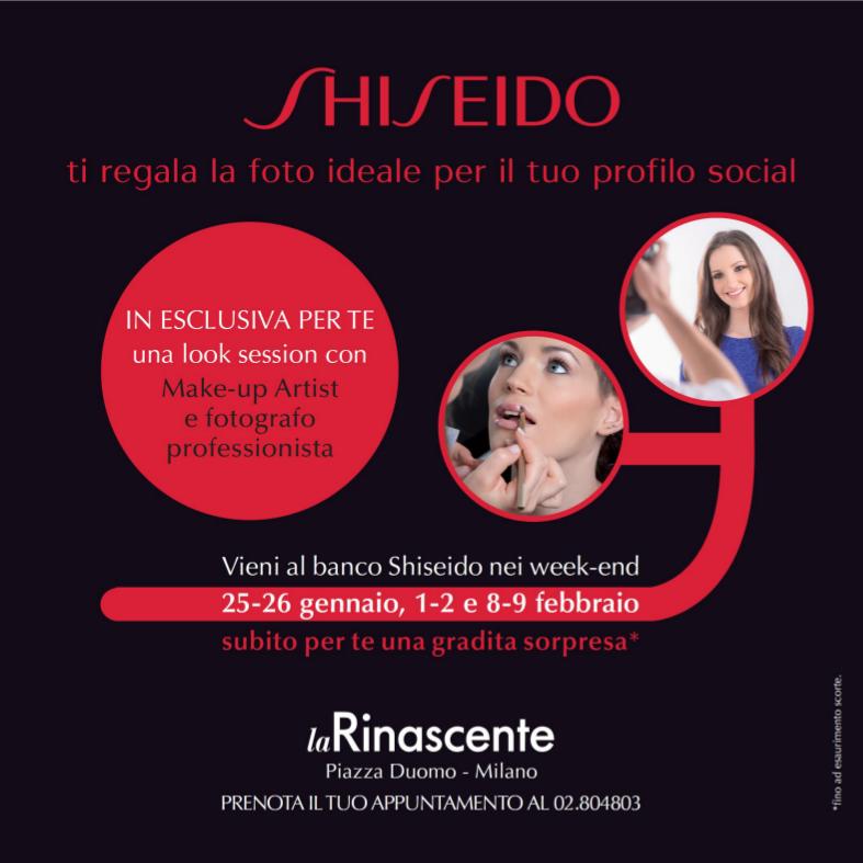 Shiseido social pic in Rinascente