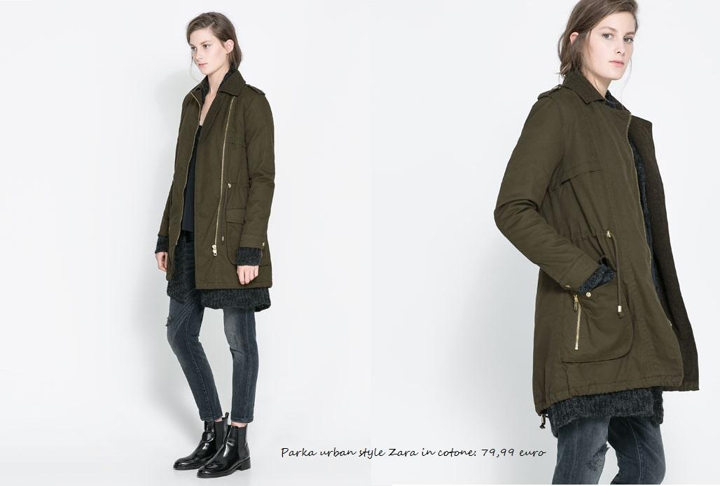 Parka Zara tendenza moda inverno 2014