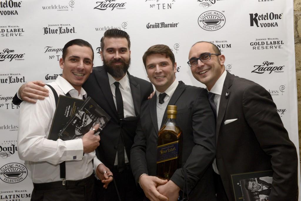 I 4 finalisti della tappa napoletana. Da Sx Daniele Pons, Alexander Frezza, Antonio Esposito, Salvatore d'Anna