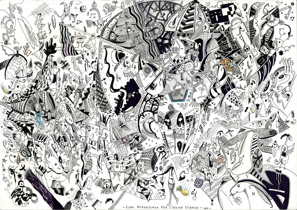 Cura afrodisiaca per l'occhio stanco - Trattopen su Carta, 29,7 x 42 cm (2001)