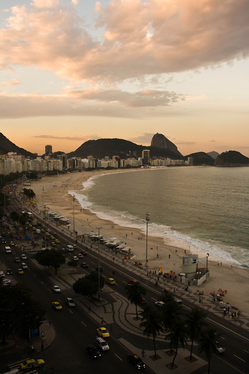 Copacabana at Sunset.
