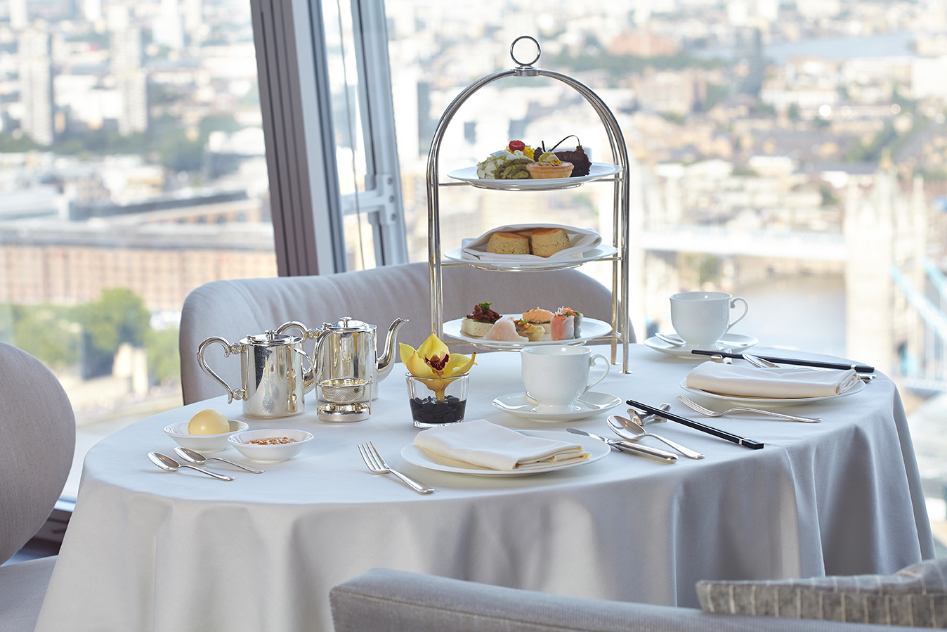 Asian Afternoon Tea at Ting Shangri La Hotel The Shard Londra