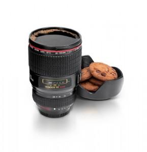 Tazza a forma di obiettivo di macchina fotografica
