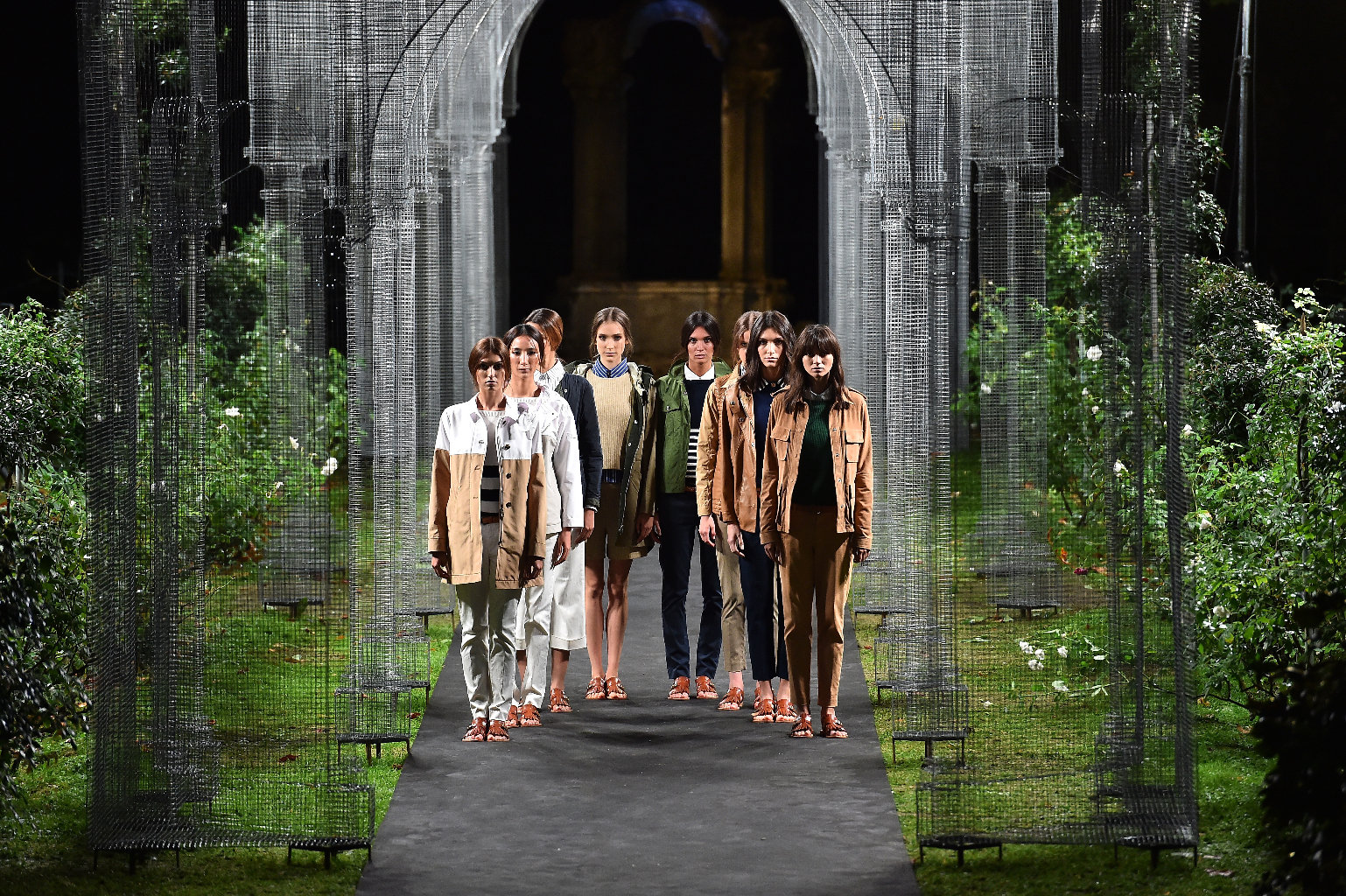 fashion is shown at the Peuterey presentation as part of Milan Fashion Week Spring/Summer 2016 on September 23, 2015 in Milan, Italy.