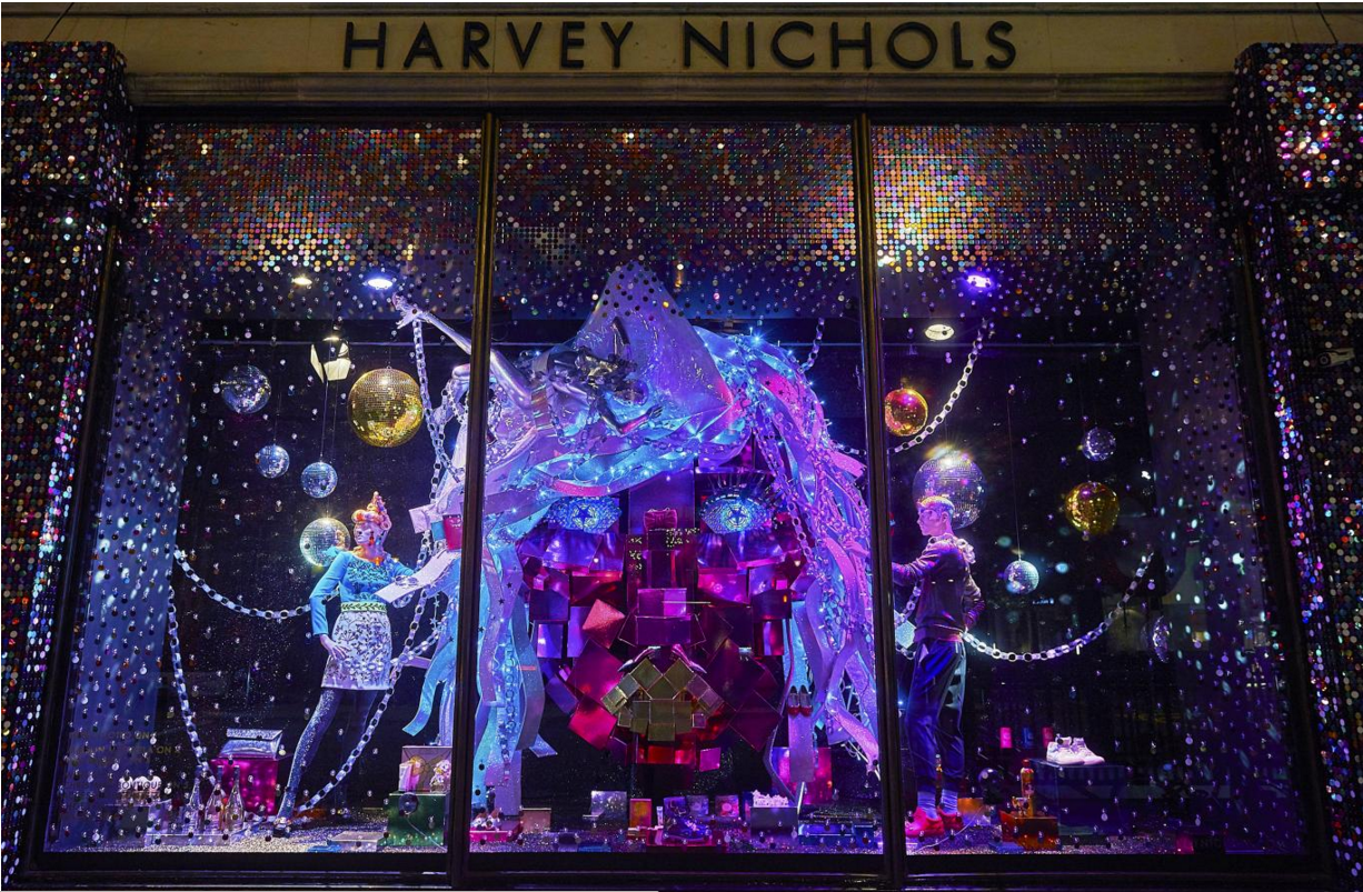 Harvey Nichols vetrine di Natale Londra