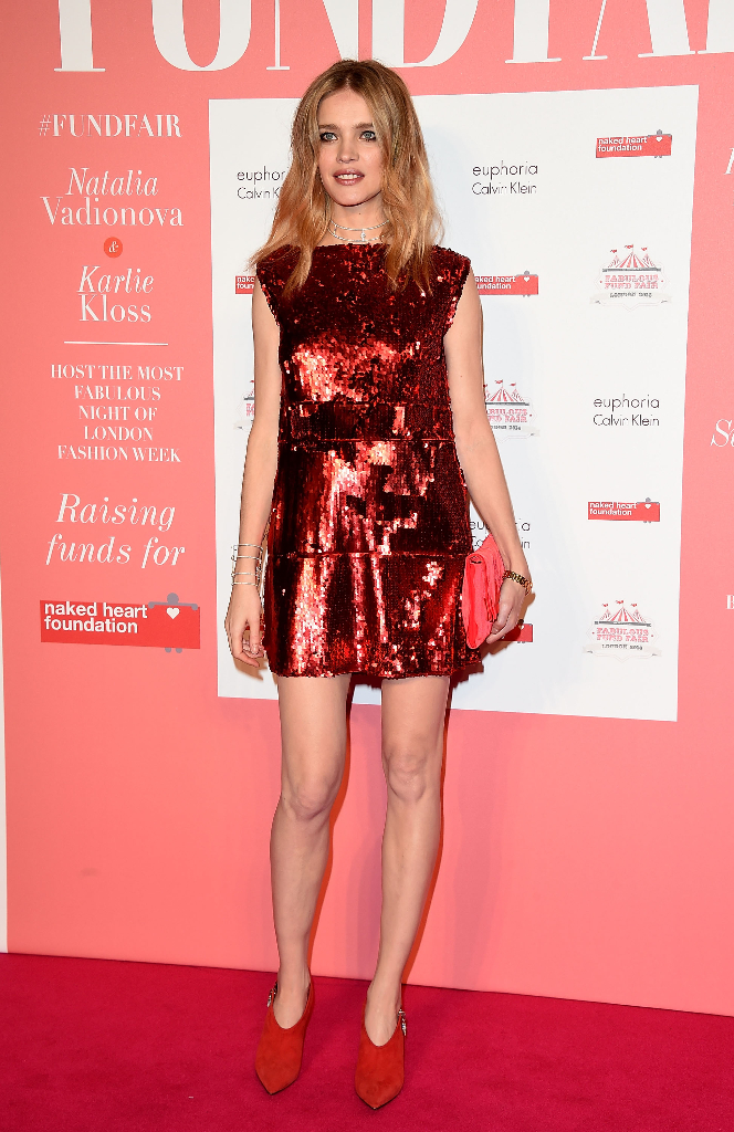 LONDON, ENGLAND - FEBRUARY 20: Natalia Vodianova arrives at The Naked Heart Foundation's Fabulous Fund Fair in London at Old Billingsgate Market on February 20, 2016 in London, England. (Photo by David M. Benett/Dave Benett / Getty Images for The Naked Heart Foundation) *** Local Caption *** Natalia Vodianova