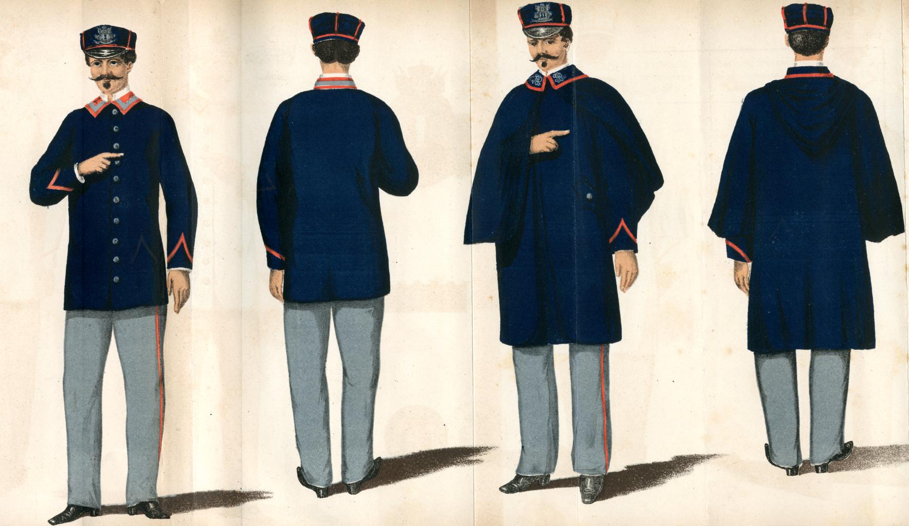 1881 postino divisa Bollettino Postale 1881