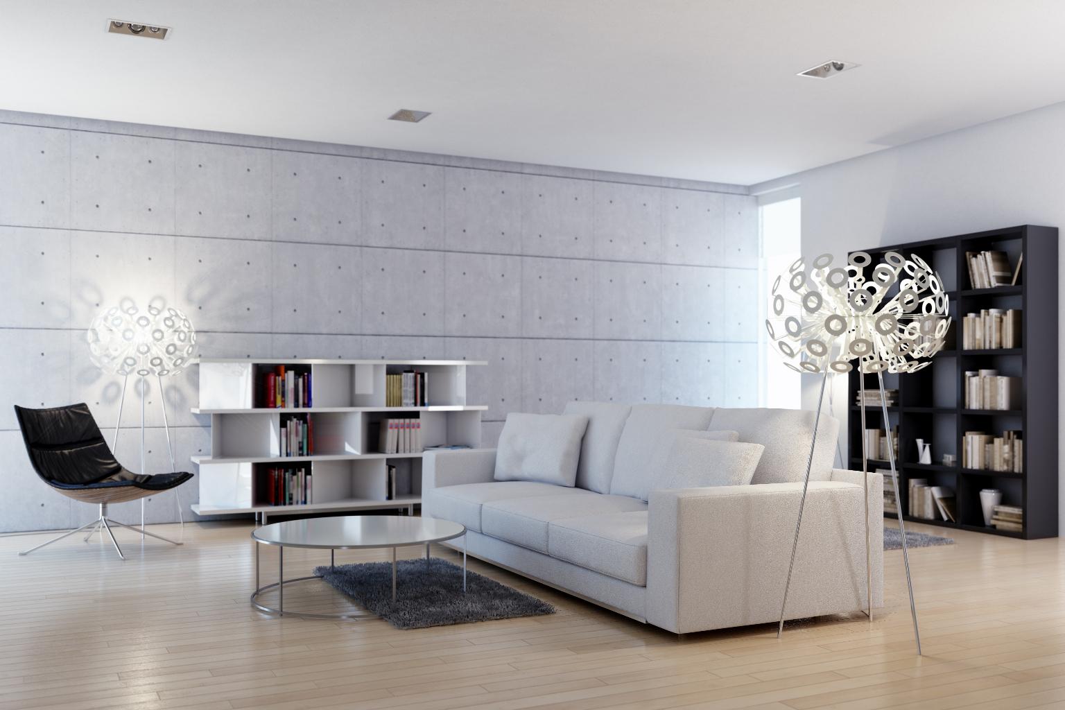 Modern bright livingroom
