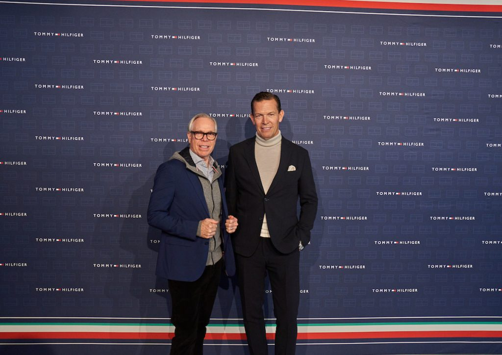 Tommy Hilfiger e Daniel Grieder, CEO di Tommy Hilfiger Global e PVH Europe
